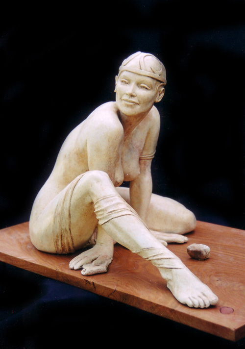 Salomé : plâtre patiné marbre