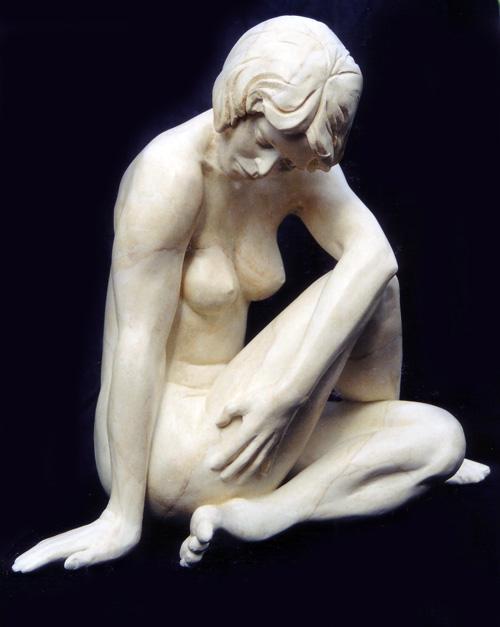 Myriam Plâtre patiné marbre