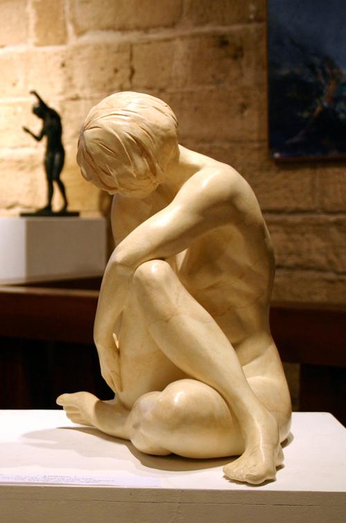 Myriam : plâtre patiné marbre