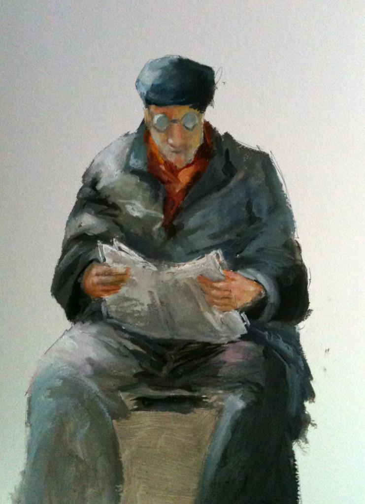 L'homme lisant son journal