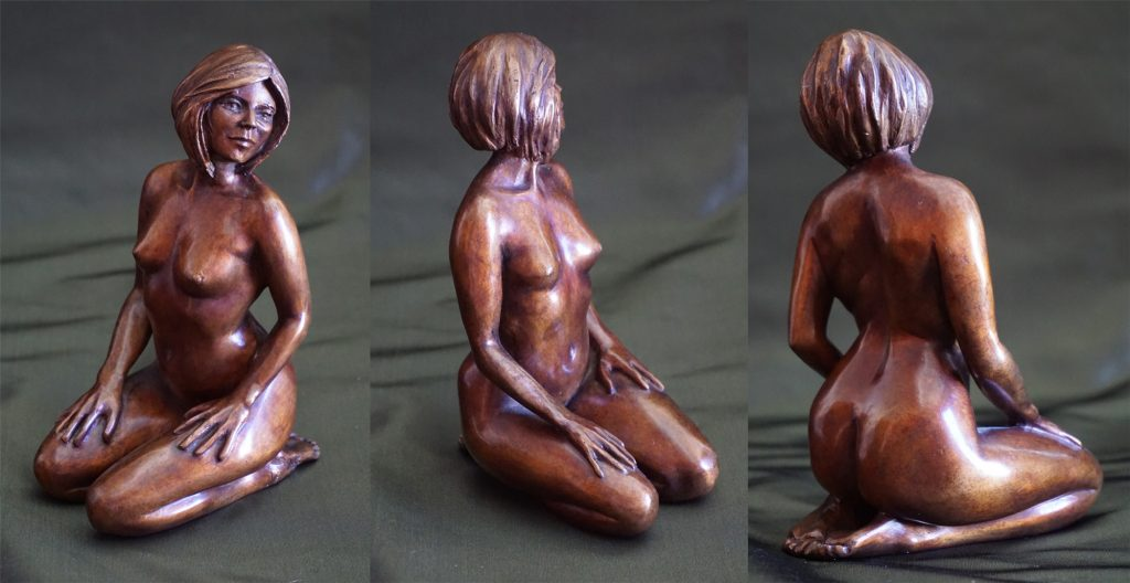 Féline petit bronze