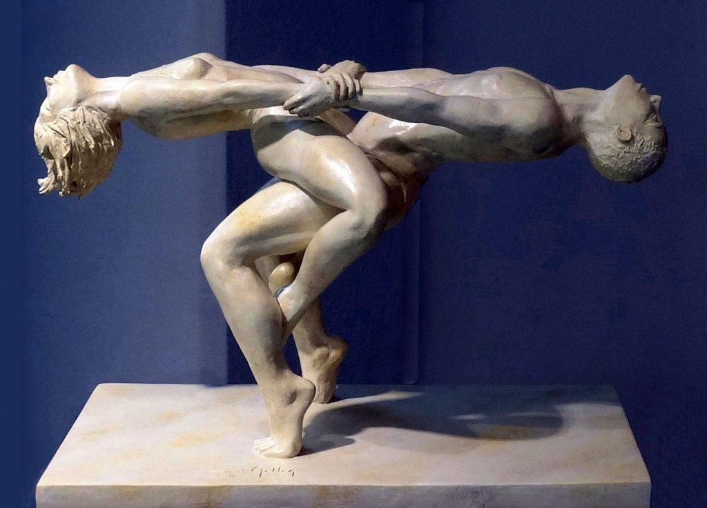 Plâtre patiné marbre